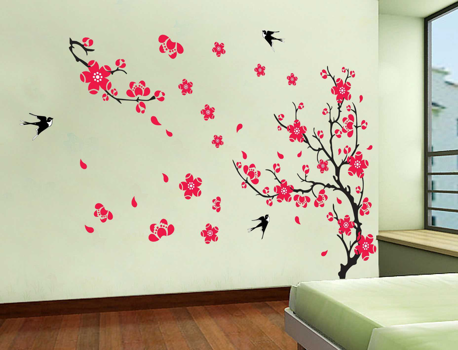 Красивые рисунки на стену дома штора